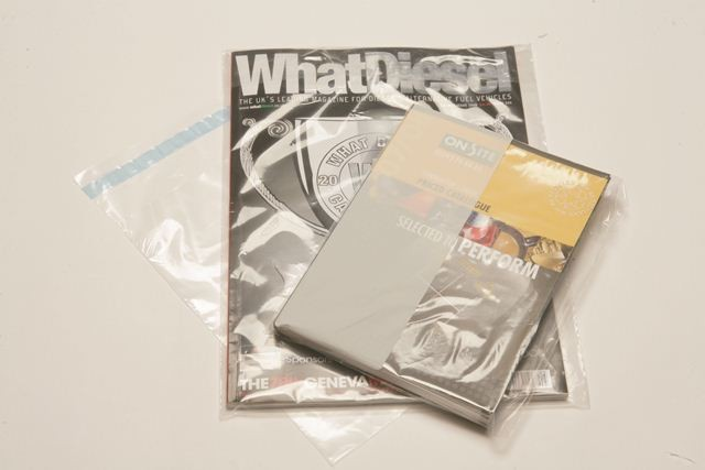 Clear polythene mailers