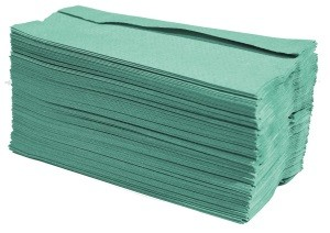 green paper hand towels