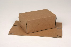 Brown solid board cartons - locking ends
