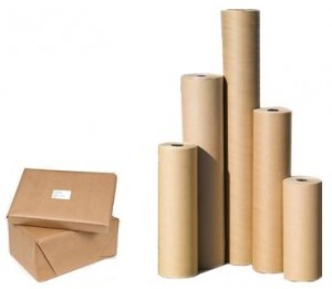 Pure ribbed kraft paper roll