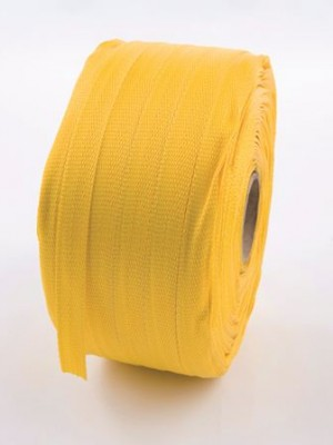 Woven polyester strapping